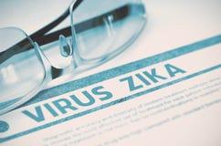 Diagnóstico - vírus Zika Conceito da medicina ilustração 3D Imagens de Stock Royalty Free