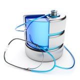 Diagnósticos do armazenamento de dados  Foto de Stock Royalty Free