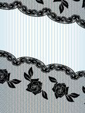 Diagnal black French lace background Royalty Free Stock Images