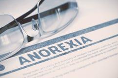 Diagnos - anorexi stetoskop för pengar för begreppsliesmedicin set illustration 3d Arkivfoton