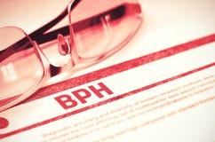 Diagnos - BPH MEDICINSKT begrepp illustration 3d Royaltyfri Bild