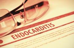 Diagnos - Endocarditis MEDICINSKT begrepp illustration 3d Arkivbild