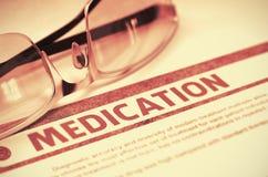 Diagnos - läkarbehandling stetoskop för pengar för begreppsliesmedicin set illustration 3d Arkivfoto