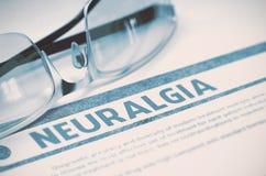 Diagnos - neuralgi stetoskop för pengar för begreppsliesmedicin set illustration 3d Royaltyfria Bilder
