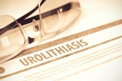 Diagnos - Urolithiasis MEDICINSKT begrepp illustration 3d Arkivfoto