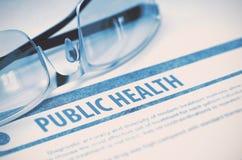 Diagnose - öffentliches Gesundheitswesen MEDIZINISCHES Konzept Abbildung 3D Lizenzfreies Stockbild