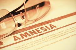 Diagnose - Amnesie MEDIZINISCHES Konzept Abbildung 3D stockfotos