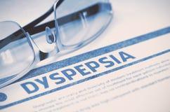 Diagnose - Dyspepsie MEDISCH concept 3D Illustratie royalty-vrije stock afbeelding