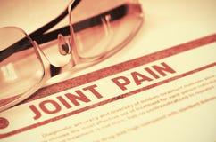 Diagnose - Gezamenlijke Pijn Het concept van de geneeskunde 3D Illustratie vector illustratie