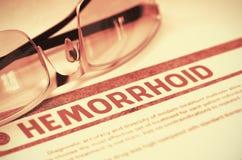 Diagnose - Hemorrhoid Het concept van de geneeskunde 3D Illustratie vector illustratie