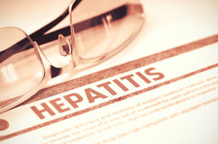 Diagnose - Hepatitis Het concept van de geneeskunde 3D Illustratie Royalty-vrije Stock Afbeeldingen