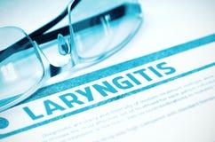 Diagnose - Laryngitissen Het concept van de geneeskunde 3D Illustratie Royalty-vrije Stock Afbeeldingen