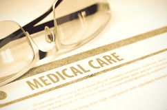 Diagnose - Medische behandeling Het concept van de geneeskunde 3D Illustratie Royalty-vrije Stock Foto's