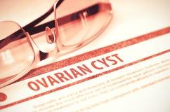 Diagnose - Ovariale Cyste Medisch Concept 3D Illustratie Royalty-vrije Stock Afbeeldingen