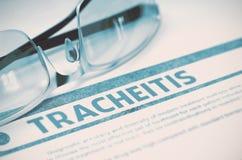 Diagnose - Tracheitis Het concept van de geneeskunde 3D Illustratie Stock Fotografie
