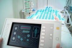 Diagnose und Behandlung in einem modernen Krankenhaus Stockbild