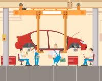 Diagnose van een nieuwe auto Royalty-vrije Stock Afbeeldingen