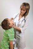 Diagnose van jongen Stock Afbeeldingen