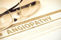 Diagnosi - angiopatia Concetto MEDICO illustrazione 3D Fotografie Stock Libere da Diritti