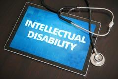 Diagnosi intellettuale di inabilità (malattia congenita) medica immagine stock libera da diritti