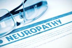 Diagnosi - neuropatia Concetto della medicina illustrazione 3D Immagini Stock