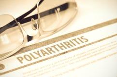 Diagnosi - poliartrite Concetto MEDICO illustrazione 3D Fotografia Stock Libera da Diritti