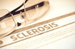 Diagnosi - sclerosi Concetto MEDICO illustrazione 3D Fotografie Stock Libere da Diritti