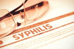Diagnosi - sifilide Concetto MEDICO illustrazione 3D Immagine Stock