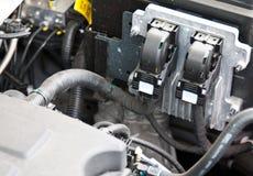 Diagnosing breakdown of a car. Diagnosing breakdown of a modern car Stock Photos