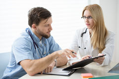 Diagnosing the patient Royalty Free Stock Image