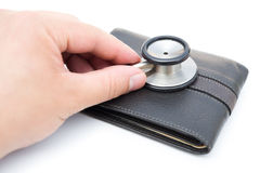 Diagnosing a wallet Stock Photos