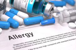 Diagnosis - Allergy. Medical Concept. 3D Render stock photography