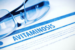 Diagnosis - Avitaminosis. Medicine Concept. 3D Illustration. Stock Photography