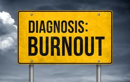 Diagnosis Burnout. Road sign concept royalty free illustration