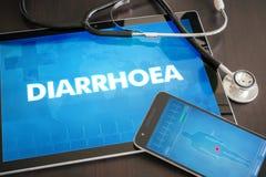 Diagnosis c médica de la diarrea (enfermedad gastrointestinal relacionada) ilustración del vector