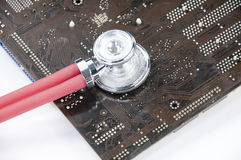 The diagnosis of the circuit board Royalty Free Stock Image