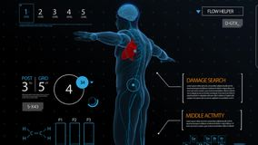 Diagnosis of the circulatory and nervous system. stock video