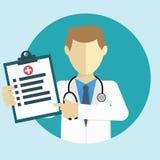 Diagnosis de la demostración del doctor Fotografía de archivo libre de regalías