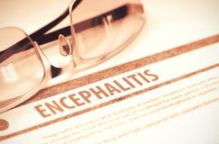 Diagnosis - Encephalitis. Medicine Concept. 3D Illustration. Royalty Free Stock Images