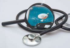 Diagnosis of external hard drive Stock Images
