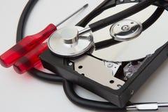 Diagnosis of external hard drive Stock Photography