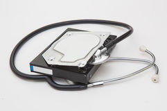 Diagnosis of external hard drive Royalty Free Stock Images
