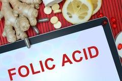 Diagnosis Folic acid. Stock Images