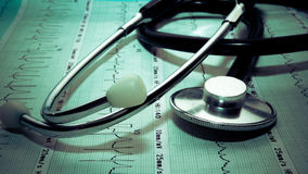 Diagnosis for heart attack Stock Photos