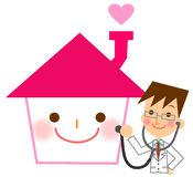 Diagnosis of the house. This is an illustration of a diagnosis of the house Royalty Free Stock Photo