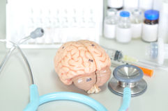 Diagnosis of human brain Royalty Free Stock Photo
