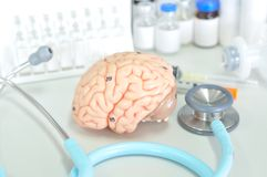 Diagnosis of human brain Stock Photography