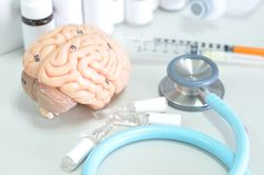 Diagnosis of human brain Stock Image
