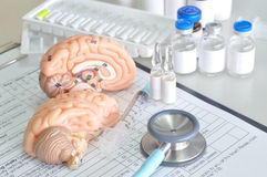 Diagnosis of human brain Stock Photos