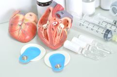 Diagnosis of human heart Stock Photos